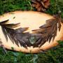 Колдовское колье с листьями полыни и природным лабрадором