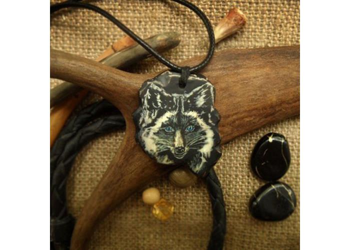 Чернобурая лисица амулет