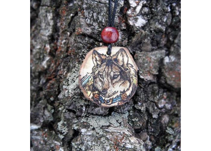 Волк-индеец амулет