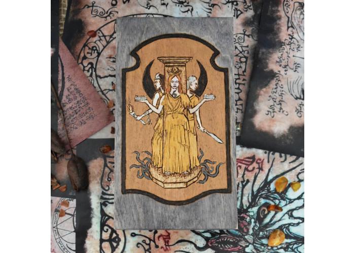 Геката Трехликая шкатулка для карт Таро