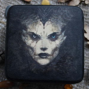 Лик Демона шкатулка ручной работы