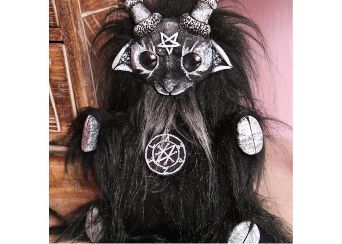 Демон Азазель кукла черно-белая