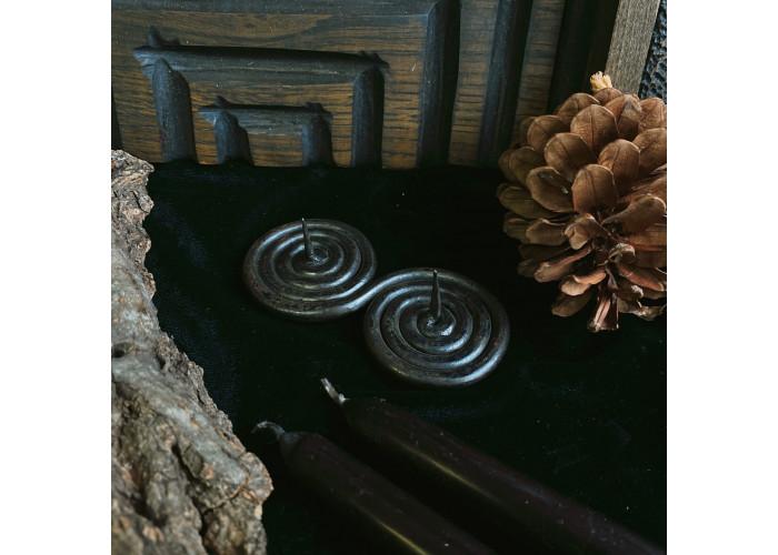 Двойная Спираль подсвечник кованный