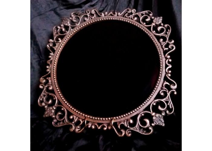 Зеркало черное круглое