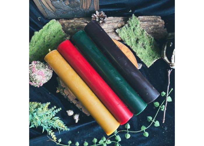 Обелиск свечи-столбики набор 4 цвета