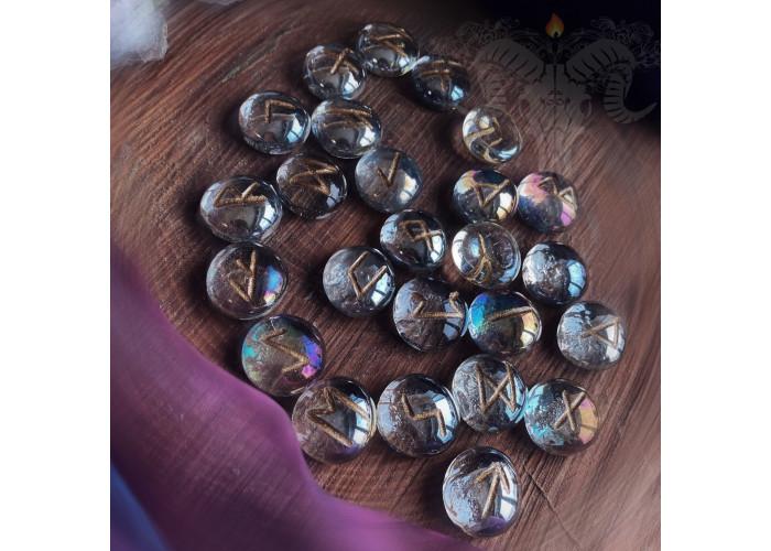 Взгляд в Омут руны из стекла набор