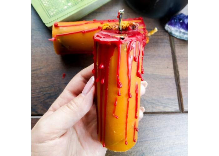 Огненное Вино свеча фигурная восковая