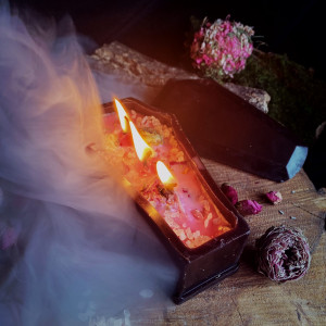 Гробовое Спокойствие свеча фигурная восковая