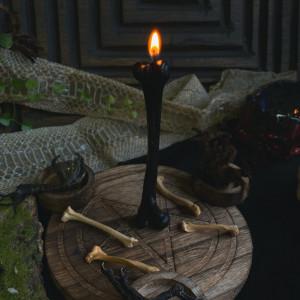 Косточка свеча фигурная восковая