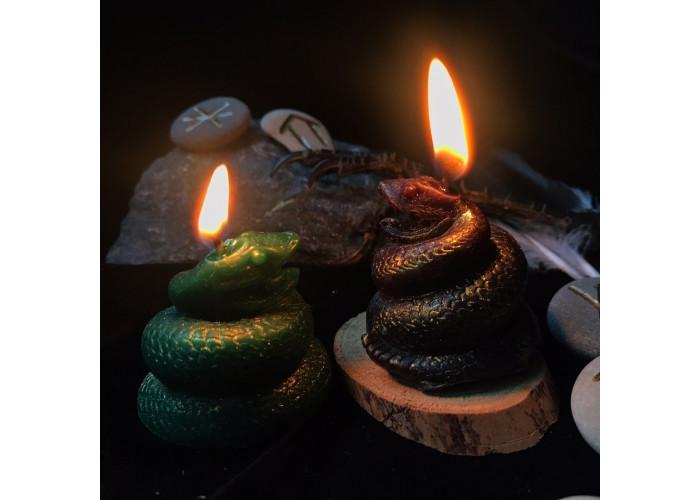 Змея свеча фигурная восковая