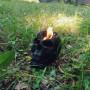 Череп свеча большая фигурная восковая