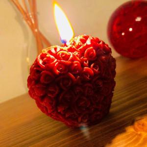 Сердце свеча фигурная восковая