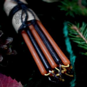Огоньки Самайна набор тонких свечей