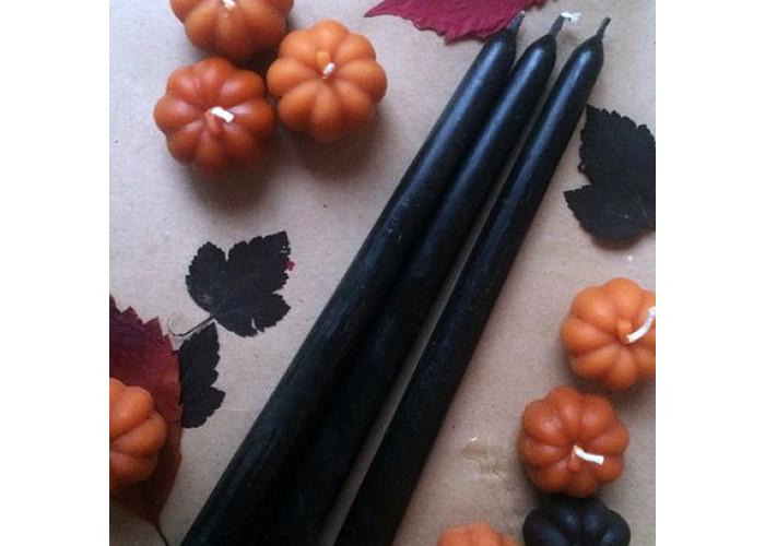 Черно-оранжевые свечи восковые