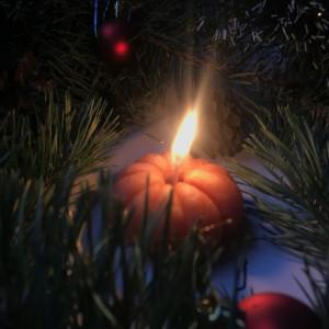 Мандарин свеча фигурная восковая