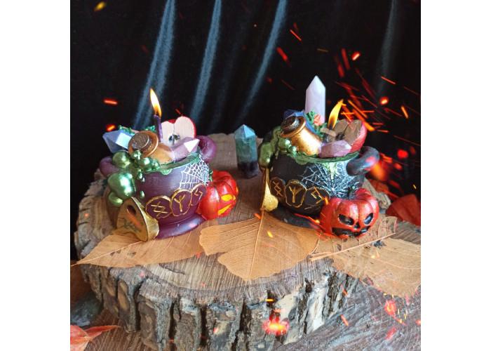 Дары Самайна свеча-ритуал восковая