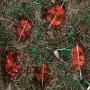 Любовь свеча восковая земляная красная