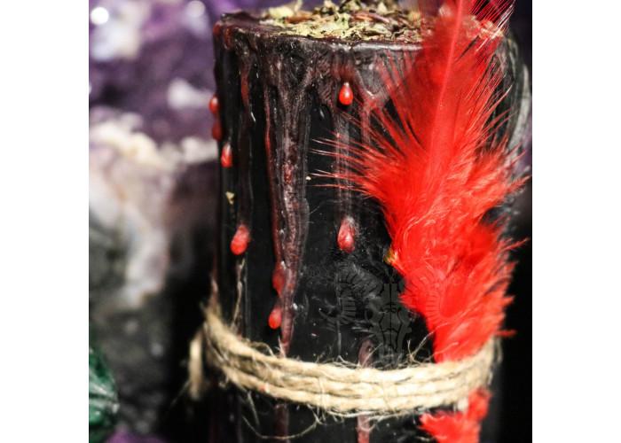 Черный Дым свеча-ритуал восковая
