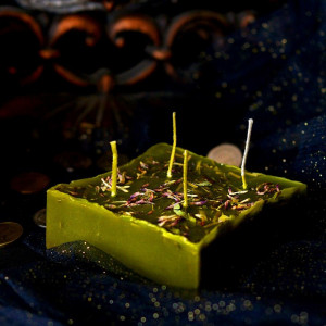 Денежная Монета свеча-ритуал восковая