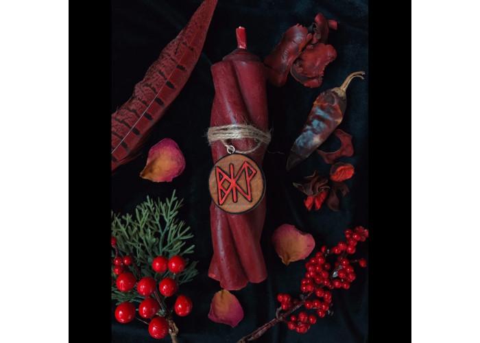 Костер Обольщения свеча-ритуал с амулетом