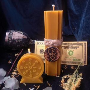 Успех набор свечей с амулетом для привлечения клиентов