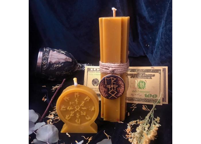 Колесо признания свеча-ритуал для привлечения клиентов