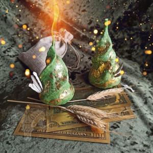 Денежная Свобода свеча-ритуал восковая