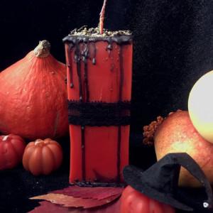 Дух Самайна свеча-ритуал очищающая