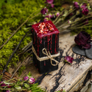 Магия Ночи свеча-ритуал алтарная восковая