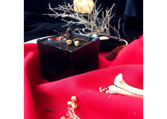 Порча свеча-ритуал восковая