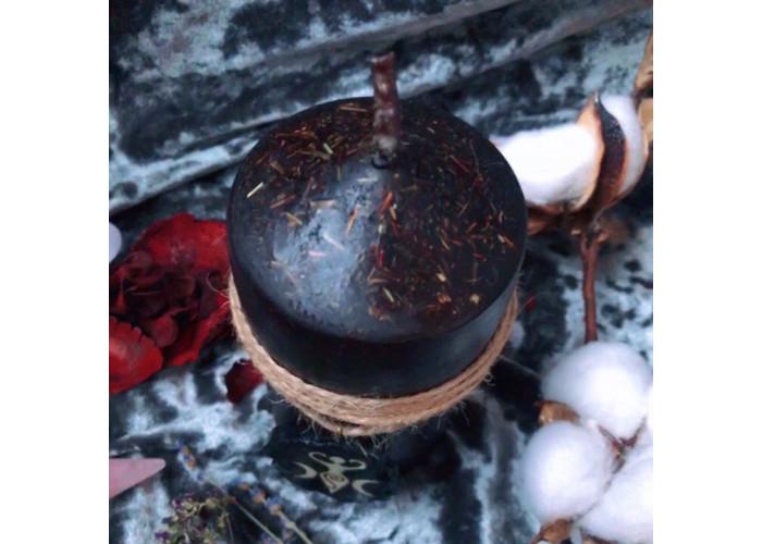 Ведьмин Оберег свеча-ритуал с амулетом