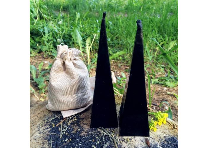 Соль и Шалфей свеча восковая для чистки предметов