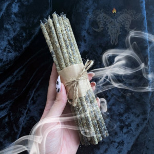 Дыхание Полей тонкие свечи с полынью восковые