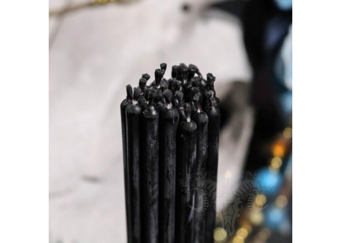 Черные тонкие свечи восковые