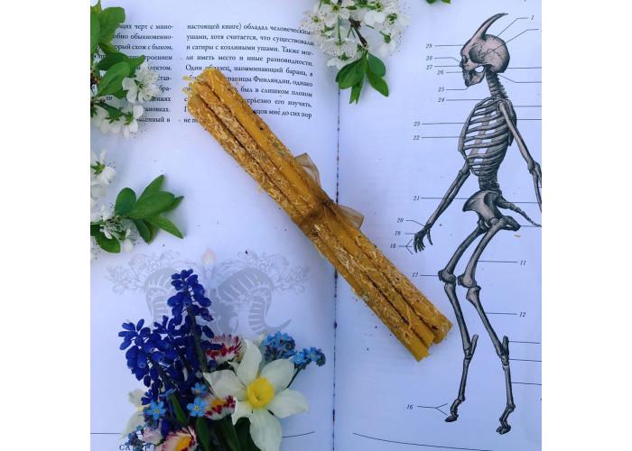 Календула тонкие свечи цветочные восковые