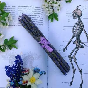 Лаванда тонкие свечи цветочные восковые