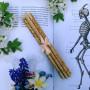 Желтая Роза тонкие свечи цветочные восковые