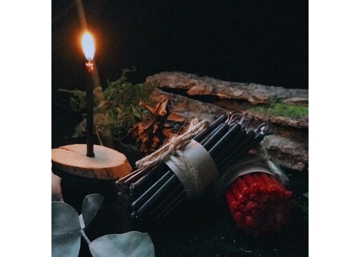 15 Минут тонкая свеча восковая