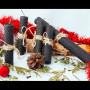 Черные свечи из вощины с маслом хвои