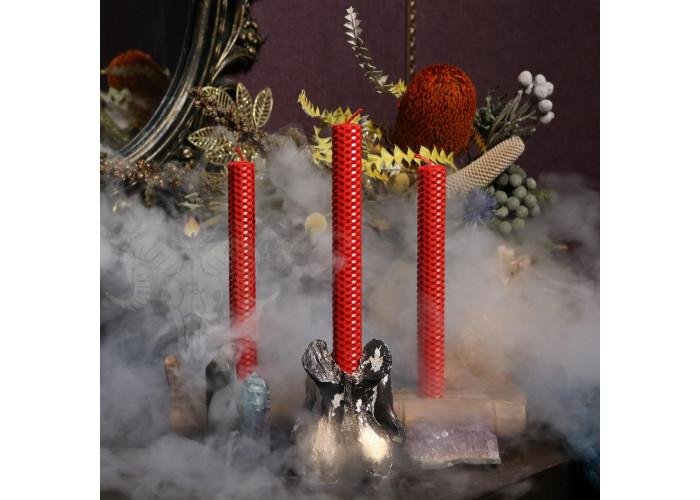 Красные свечи из вощины