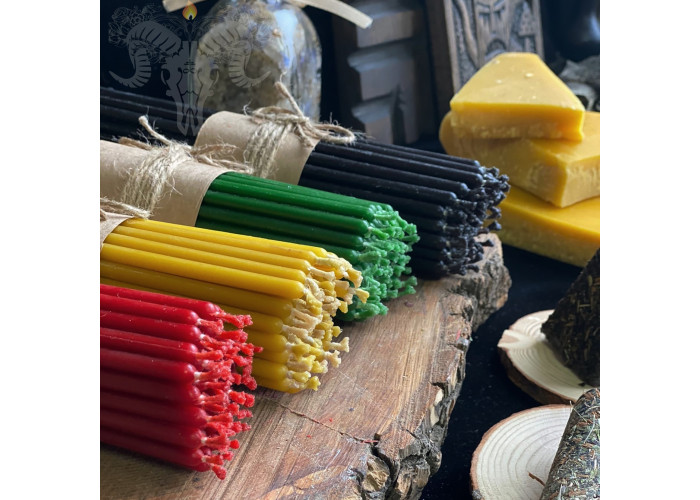 Четыре Цвета набор тонких восковых свечей 200 шт.