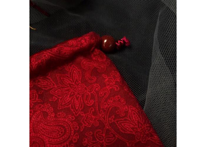 Мешочки для Таро или Рун. Красный узор №1