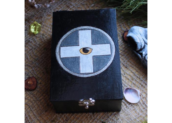 Око Дьявола шкатулка для карт Таро, Рун