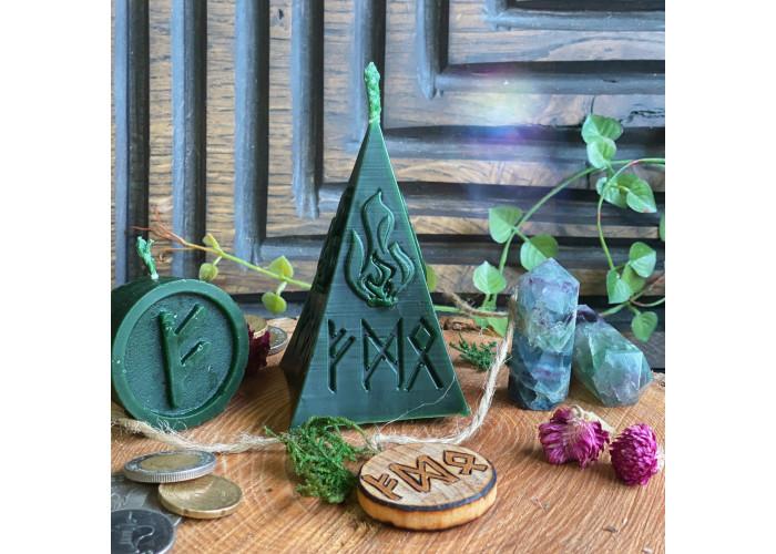 Финансовый Поток свеча-ритуал с амулетом