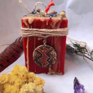 На Мягких Лапах свеча-ритуал с амулетом