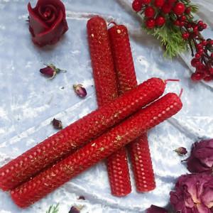 Дар Афродиты свеча красная из вощины