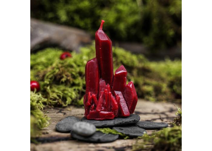 Кристалл свеча фигурная восковая