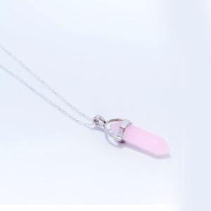 Розовый кварц подвеска малая