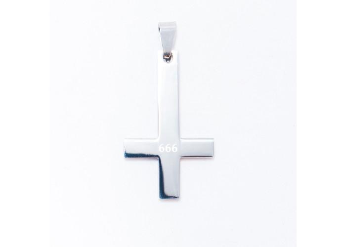 Перевёрнутый крест 666 подвеска