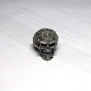 Череп с пентаграммой кольцо